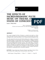 Effects of SacredShamanic Flute Music on Trauma and States of Consciousness; Lenore L. Wiand (Vol 17 No 3)