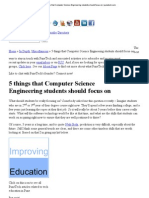 5 Things That Computer Science Engineering Students Should Focus on _ Punetech