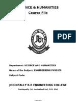 Physics Course File