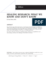 Healing Research What We Know and Don't Know; Larry Dossey (Vol 19 No 1)