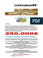 NOTIFICAÇÃO DE GANHO 250.000 €