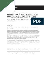 Hemi-sync and Radiation Oncology a Pilot Study; Jonathan Holt (Vol 19 No2)
