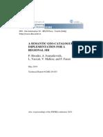 A Semantic Geo-catalogue Implementation for a Regional SDI