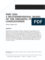 Part One a Multidimensional Model of the Dreaming State of Consciousness; Christian j Hallman