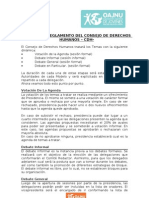 Dinámica y Reglamento de CDH