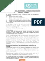 Dinámica y Reglamento de ECOSOC