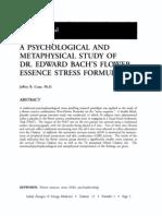 Psychological and Metaphysical Study of Dr. Edward Bach's Flower Essence Stress Formula ; Jeffrey r Cram