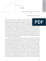 Martin Heidegger e a técnica  Franklin Leopoldo e Silva