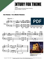 20th Century Fox Theme _Piano