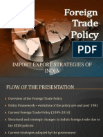 Import Export Strategies of India