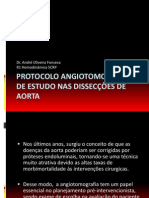 Protocolo Angiotomografico de Estudo Nas Disseccoes de Aorta