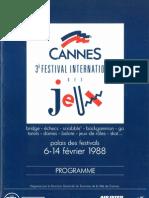 Cannes 1988 Plaquette