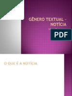 GÊNERO TEXTUAL - NOTÍCIA