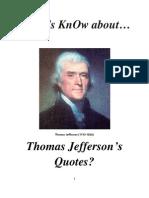 Do Roman Catholics KnOw About Thomas Jefferson Quotes?