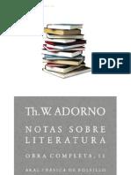 ADORNO. Theodor W. Notas-Sobre-literatura