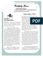 September 2013 Newsletter for Faith Lutheran Church