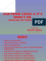 Sub Prime Crisis & Its Impact on Indian Economy