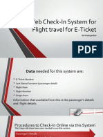 Web Check-In System for Flight Travel for E-Ticket
