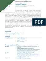 Currículo do Sistema de Currículos Lattes (Liliã de Meneses Teixeira)