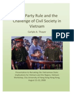 Carlyle Thayer - 2008, Aug - One-Party Rule and the Challenge of Civil Society in Viet Nam