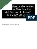 Presentación sobre Lineamientos del Desarrollo Local
