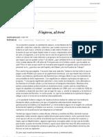 ¡Viajeros, al tren! | Edición impresa | EL PAÍS