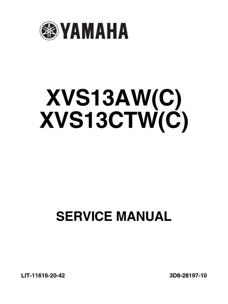 XVS13AW(C) XVS13CTW(C): Service Manual