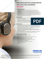 Nokia Bluetooth Stereo Headset BH-905 Data Sheet