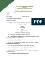 CÓDIGO CIVIL - LEI No 10.406, DE 10 DE JANEIRO DE 2002.