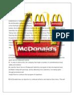McDonald's Project