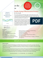Sterility Testing of Pharmaceutical Products