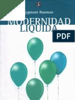 Bauman Modernidad Liquida