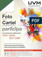 """Convocatoria Concurso Institucional """"Soy Lince, Soy UVM"""""""