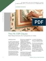 2 Percent India CSR Report