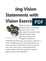 Writing Personal Vision