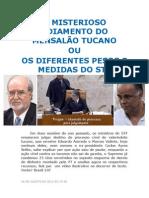 O MISTERIOSO ADIAMENTO DO MENSALÃO TUCANO ou OS DIFERENTES PESOS E MEDIDAS DO STF