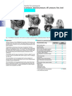 Siemens Pressure Transmitter