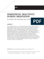 Sympathetic Reactivity During Meditation; Joan h Hageman (Vol 19 No 2)