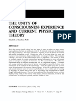 Unity of Consciousness Experience and Current Physical Theoryunity of Consciousness Experience and Current Physical Theory; Elizabeth Rauscher (Vol 15 No 2)