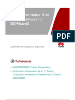 GPON FTTM Native TDM Service Configuration(SDH-Based) V8R8