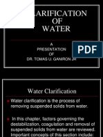 Clarification of Water