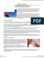 Explicación del Tema 4. Outsourcing y e-sourcing