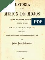 Historia de La Mision de Los Moxos en La Republica de Bolivia Enrique Torres Saldamando