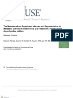 The Masquerade as Experiment-Gender and Representation in Mercedes Cabello de Carbonera (Mathews)