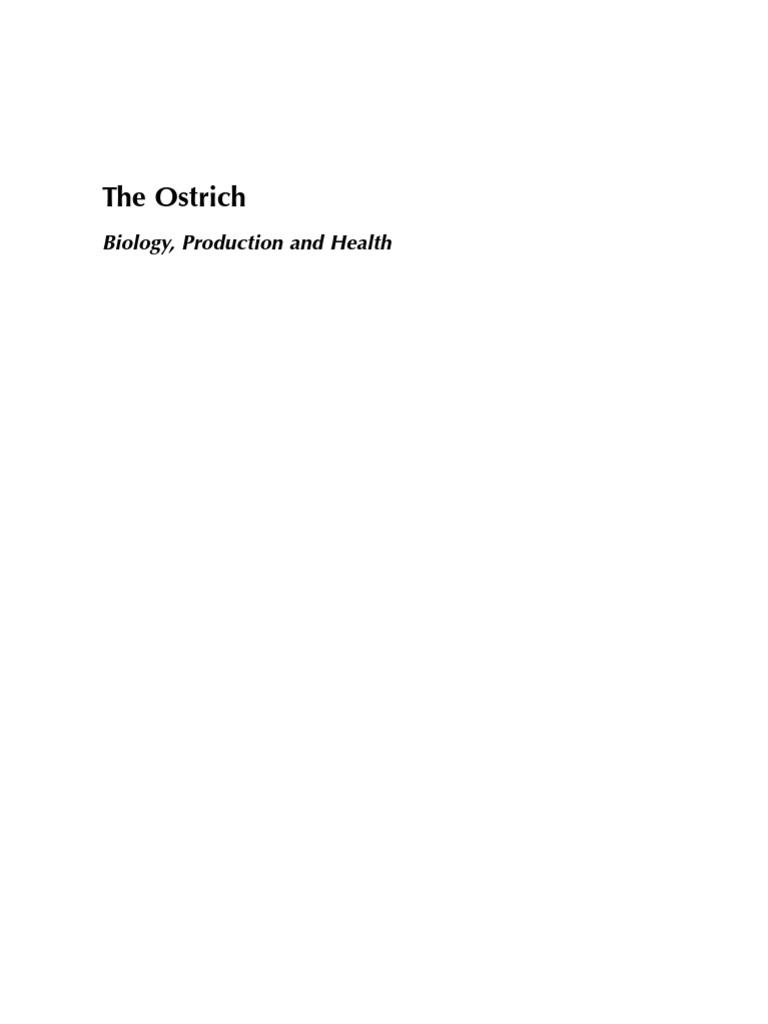The Ostrich Biology Production and Health | Vertebral Column | Vertebra