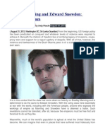 Bradley Manning and Edward Snowden American Heroes