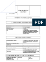 Ficha de Datos de Seguridad Hidroxido de Calcio