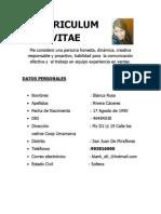 Curriculum Vitae Blanca