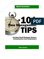 101 Time Management Tips for Infopreneurs