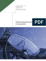 Public Energy Research in Switzerland